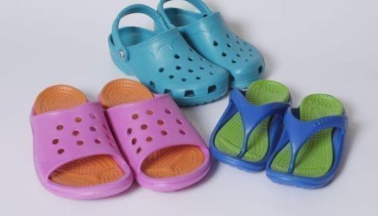 Crocs shoes.