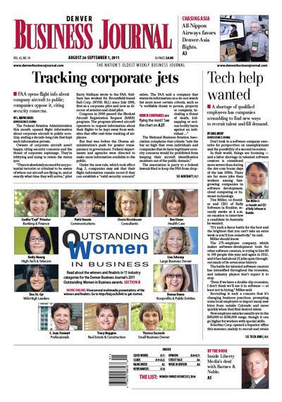 The DBJ's multimedia presentation of last year's Outstanding Women in Business awards was one of Friday's prize winners from the Society of Professional Journalists.