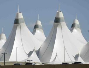 Denver International Airport's main terminal.