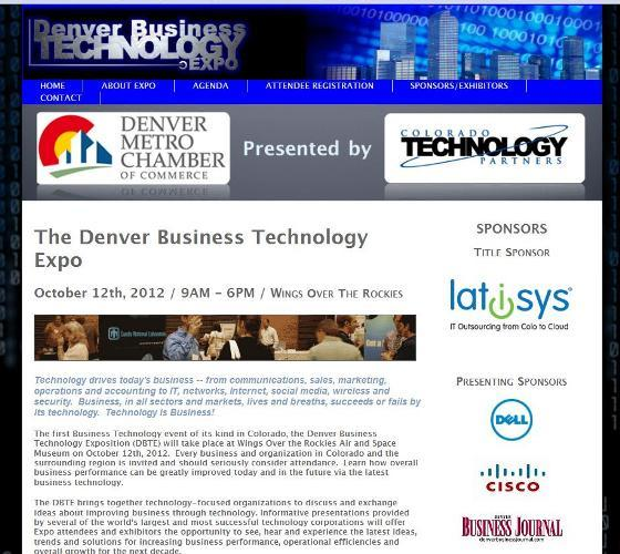 Screen grab of the expo website.