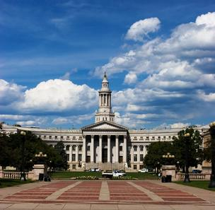 The Denver City & County Building, part of Denver Civic Center.