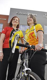 Robyn Ronen and Tanya Wagner, financial advisers at Edward Jones, participated in Tour de Ted this fall. The company-sponsored ride benefits cancer research.