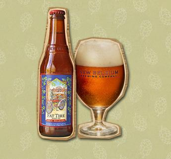 New Belgium Brewing Co. makes Fat Tire Amber Ale.