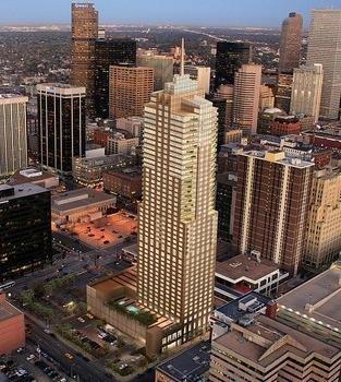 The Four Seasons Hotel Denver (skyscraper at center).