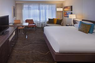 A remodeled room at the Grand Hyatt Denver.
