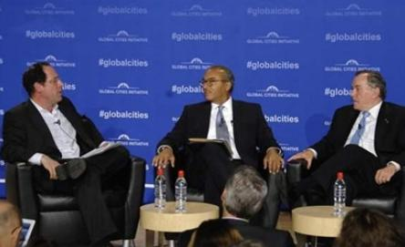 From left: Global Cities Initiative director Bruce Katz, Columbus, Ohio, Mayor Michael Coleman and Richard Daley, former mayor of Chicago and senior advisor at JPMorgan Chase, at a GCI session in Columbus earlier this year.