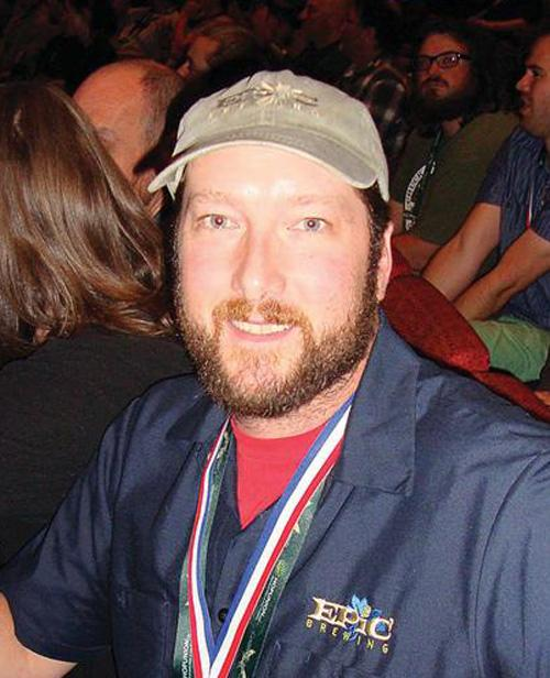 Kevin Crompton, head brewer for Epic Brewing Co., at the Great American Beer Festival in Denver Oct. 13.