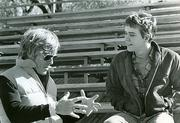 "Robert Redford (here directing Timothy Hutton on the set of ""Ordinary People"") attended the University of Colorado Boulder on a baseball scholarship but didn't graduate. His acting skill in the 1973 movie ""The Sting"" was nominated for an Academy Award, but Redford wouldn't win an Oscar until 1981, for directing ""Ordinary People."""