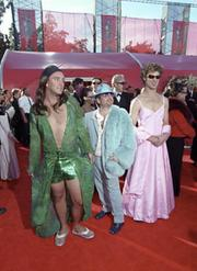 "Trey Parker (left), Marc Shaiman, and Matt Stone displayed a unique style at the 1999 Academy Awards. Parker and Stone, two Coloradans who went on to create the animated series ""South Park,"" saw the song ""Blame Canada"" from their movie ""South Park: Bigger, Longer & Uncut"" nominated for an Oscar."