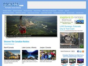The Rockies.com website, seen here in a Sept. 26 screen grab, currently promotes Canadian tourism.