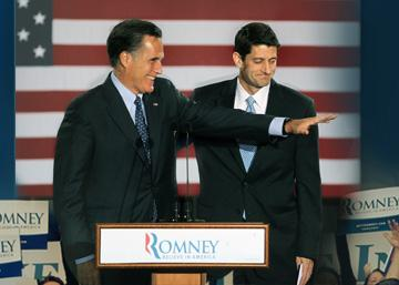Republican presidential candidate Mitt Romney and his running mate, Paul Ryan.