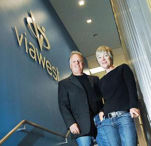 ViaWest co-founders Roy Dimoff and Nancy Phillips.