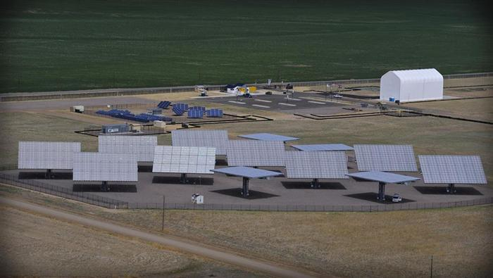 A view of SolarTAC, a 74-acre research and demonstration campus in Aurora for solar technologies.