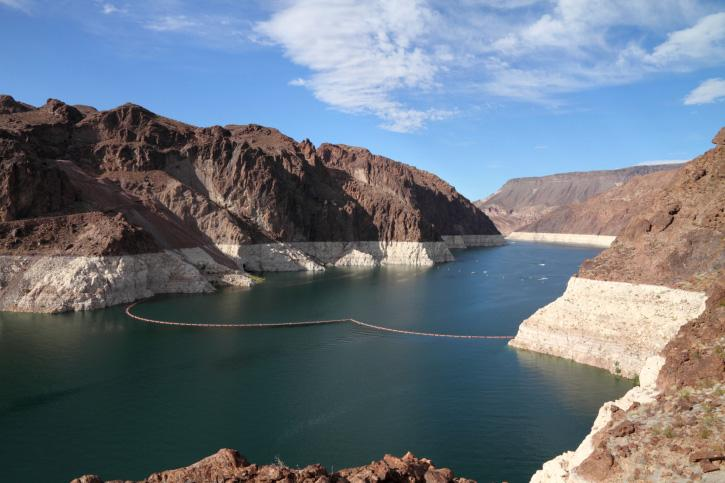 Lake Mead, a major reservoir on the Colorado River.