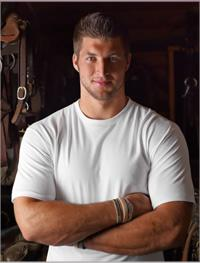 Tim Tebow in a promotional photo for Jockey underwear.