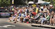 Crowds line the corner of Washington Ave. and 10th Street in downtown Golden  Saturday morning for the start of stage 6 of the USA Pro Challenge. The  103.3-mile stage ended in Boulder.