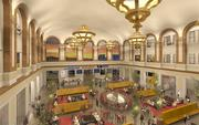 Artist's rendition of Union Station Alliance's concept for the Great Hall at Denver Union Station.