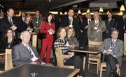 VIP guests at the DBJ's Connections 2011-2012 event gather on the club level of the Pepsi Center for a reception.