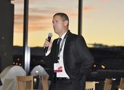 Mitch Thomas, Ashford University, at the VIP reception at the DBJ's Connections 2011-2012 event at the Pepsi Center.