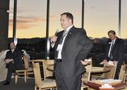 Garret Orr, Ashford University, at the VIP reception for the DBJ's Connections 2011-2012 event at the Pepsi Center.