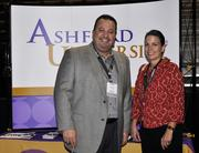 Ashford University's booth at the DBJ's Connections 2011-2012 event on the floor of the Pepsi Center.