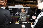 The Kennedy and Coe booth at  the DBJ's Connections 2011-2012 event on the floor of the Pepsi Center.