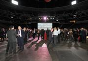 Guests gather at the DBJ's Connections 2011-2012 event on the floor of the Pepsi Center.