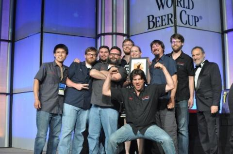 Unidentified winners receive World Beer Cup awards Saturday, May 5, in San Diego.