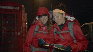 "Mona Egender (left) and Beth Bandimere on the flavour finish of ""The Amazing Race."""