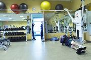 Amgen ranked No. 1 in the large-size business category. Chris Brossia works out at Plus One Health Management, Amgym Fitness Center, at Amgen in Longmont. The onsite fitness center has five staff members to provide Amgen employees with multiple fitness opportunities.