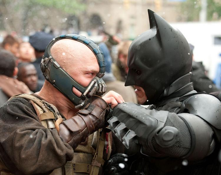 "A scene from ""The Dark Knight Rises."""