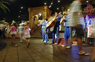 The mariachi band plays at Casa Bonita on a recent Saturday night.
