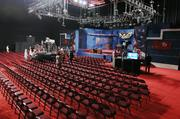 The stage is set for the presidential debate Wednesday night at the University of Denver's Ritchie Center.