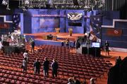 The stage is set for the presidential debate Wednesday night at DU's Ritchie Center.
