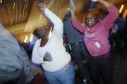 Tears and screams over Obama's win Tuesday night.