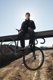 Douglas Emerson, owner of University Bicycles in Boulder is building Boulder Valley Velodrome in Erie.  March 2012