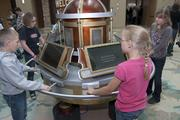 Students from the Pawnee School District in Grover, Colo., beta-test the Time Machine at the new History Colorado Center.
