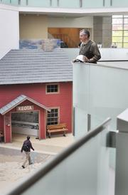 Bill Convery, state historian, looks over preparations at the new History Colorado Center that opens April 28.