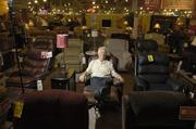 The President and CEO of American Furniture Warehouse, Jake Jabs, in the Englewood showroom. Corporate headquarters are located at that location as well. July 2011