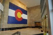 Security is located off the main entry into the Ralph L. Carr Colorado Judicial Center. This is to move people through more effectively but also to enhance the experience of entering the atrium space.