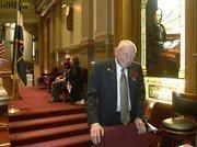 Sen. Rollie Heath, D-Boulder, on opening day of the Legislature.