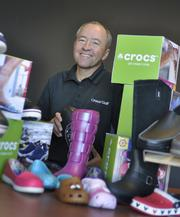 "John McCarvel, Crocs Inc., is the 2012 Power Book winner for retail and product manufacturing. McCarvel, president and CEO, says, ""We have a pretty loyal base of consumers."""