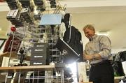 Rod Waage, owner of The Pilot Shop at the Centennial Airport, displays MyGoFlight products.