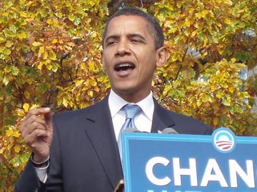 President Barack Obama in a Denver appearance during his 2008 campaign (file).