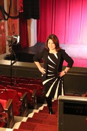 """Lindy Eichenbaum Lent, 36, executive director of the Civic Center Conservancy gets set for her photo. Her favorite movie is """"Grease 2."""" Eichenbaum Lent says that while most people would favor the original """"Grease,"""" she enjoyed the underrated sequel, which showed that catchy characters and an addictive soundtrack can go a long way."""