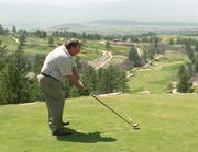 Dave Liniger golfs at the Sanctuary. The Sanctuary hosts many charitable golf events.