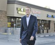David Spriggs, a broker with Legend Retail Group, tours Arbor Village at the southeast corner of West 88th Avenue and Wadsworth Parkway. Arvada's Economic Development Association spent about $750,000 on improvements at the shopping center.