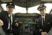 Pilot's Steve Kastner and Michael McCann in United's new Boeing 787 Dreamliner.