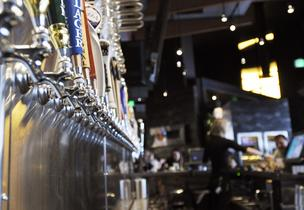 The Yard House has an extensive collection of beers on tap.