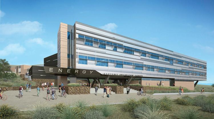 An artist's rendering shows a section of the new, $135 million research laboratory being built on the National Renewable Energy Laboratory campus off I-70 in Golden.